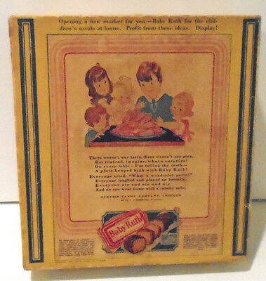 Vintage 1928 Curtiss Baby Ruth Candy Bar Advertising Box w/Children