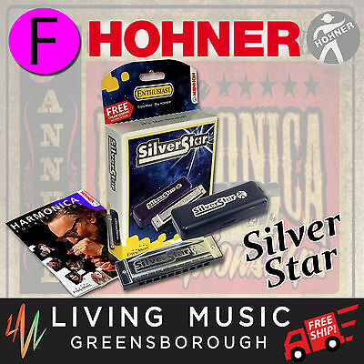 NEW Hohner Silver Star Harmonica KEY OF F 504/20/F Diatonic