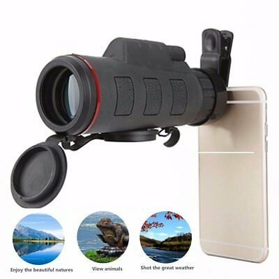 Cell Phone Telescope 30X50 Focus Monocular Portable HD Spotting Scope Optical