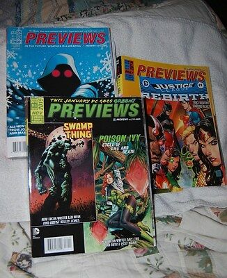 PREVIEWS THE COMIC SHOP'S CATALOG ISSUE 327 / ISSUE 326 / 332     ( lot 3 )