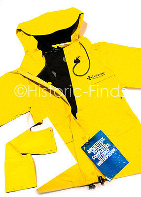 NWT Columbia IBEX PVC Kids 2 Pc Rain Suit Waterproof Youth Size Large 3 Colors