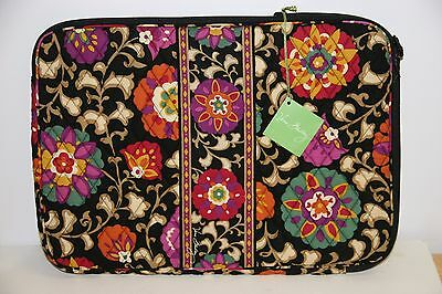 """Nwt Vera Bradley Quilted 17"""" Laptop Sleeve  *suzani Pattern"""