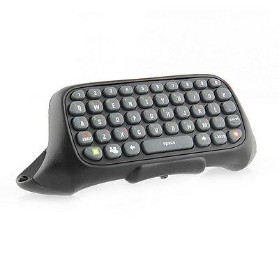 New Black Wireless Game Chatpad Keyboard Keypad Text Pad for Xbox 360 Controller
