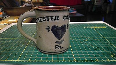 Vintage Chester County PA Coffee Mug - Signed
