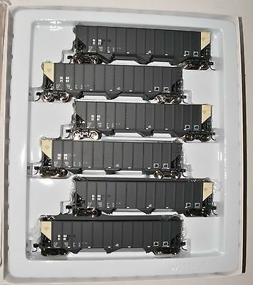 6 pack new Walthers Bethlehem 4000 cu ft 3-bay 100 t coal hoppers, 932-7878 SLGG