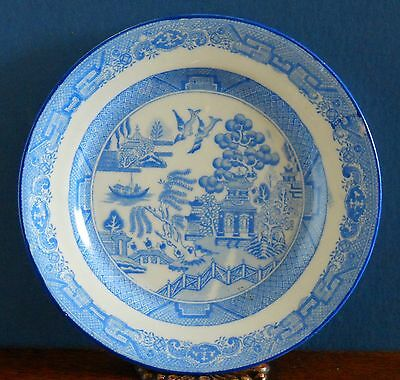 Antique Blue and white willow porcelain / bone china side plate