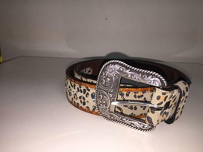 Ariat 2007 Limited Edition Buckle From Original Master Leather Belt 34/85 New