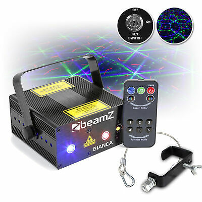 Beamz Bianca 330mW RGB Red Green Blue Gobo DJ Laser w/ G Clamp & Safety Cable