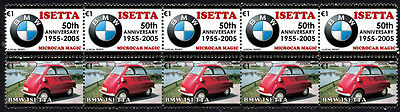 Bmw 50Th Anniversary Strip Of 10 Stamps, Bmw Isetta #5