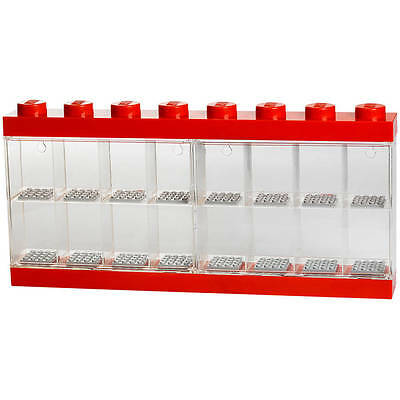 LEGO Minifigure Display Case 16 Red (Genuine LEGO Product) NEW
