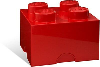 LEGO Storage Brick 4 Stud Red 5001385 NEW