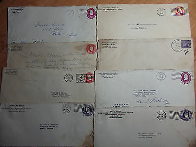 Lot Of 8 Covers / Letterhead Envelopes From 1920's-60's Judge, Sheriff,irs More