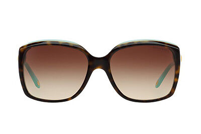 e674ca624c9b NWT TIFFANY   CO. Sunglasses TF 4076 81343B Top Havana Blue  Brown Gradient  58mm