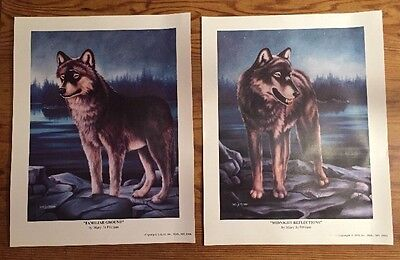 Set Two 1996 Mary Jo Pittman Wolf Pictures Midnight Reflections Familiar Ground