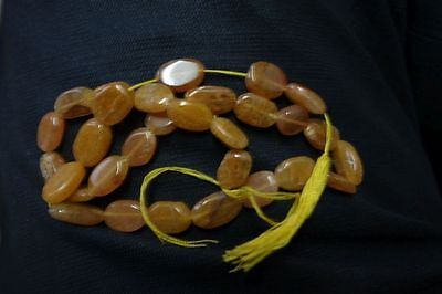 Antique Created Citrine Oval Beads 13Inch Single Strand#6916