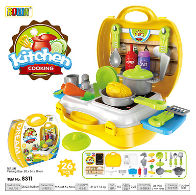 Kid's Pretend Play Sets--kitchen Cooking Play Set