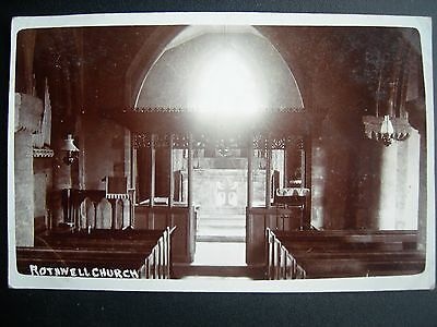 Vintage Postcard  Rothwell Church - RP -Suggest 1930s