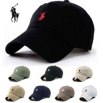 Men&Women Outdoors New Polo Cap Baseball Strap Sun Pony Adjustable Black Hat AUS