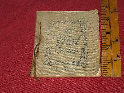 """1901 Shredded Wheat """"The Vital Question"""" Advertising Recipe Book"""