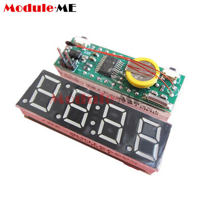 "0.36"" Led Digital Display Electronic Time Clock DS1302 + Voltage + Thermometer"
