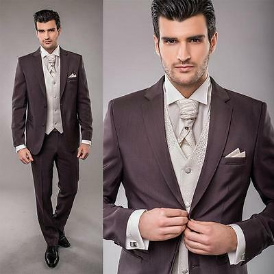 2017 New Custom Made To Measure men suit wedding party business suit Groom