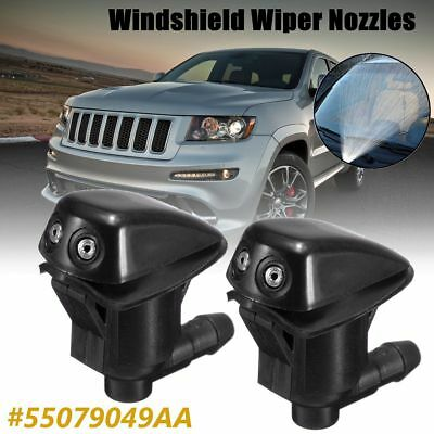 2 x Front Windshield Washer Wiper Spray Nozzle For Jeep Grand Cherokee 05-10 UK
