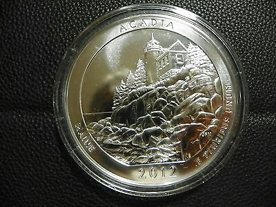 2012 5 oz America The Beautiful ATB Maine Acadia Silver Coin