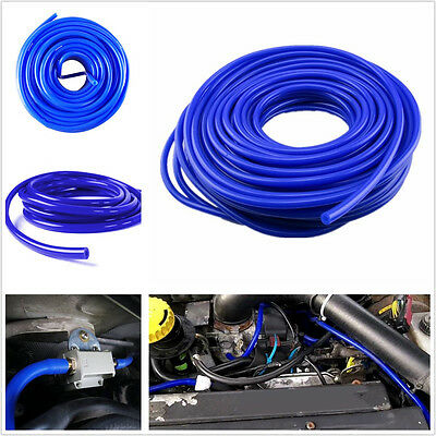 Car 4mm Blue Silicone Vacuum Hose Rubber Air Water Coolant Pipe Tube Universal