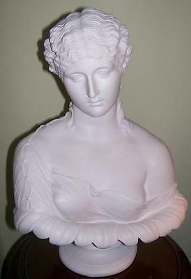 English Made Faux Marble Bust Of Clytie~ Beautiful Water Nymph