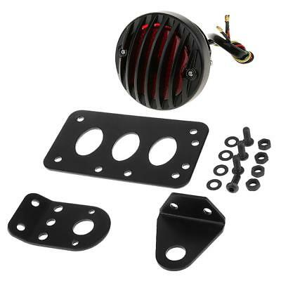 Universal Motorcycle Side Mount Number License Plate Bracket with Tail Light