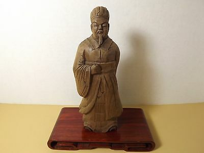 Beautifully Chinese Hand Carved Wood Statue - Lx12