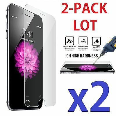 "2X New Premium Real Tempered Glass Film Screen Protector for Apple 4.7"" iPhone 6"