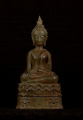 19th Century Antique Laos Enlightenment Buddha Statue - 29cm/12""