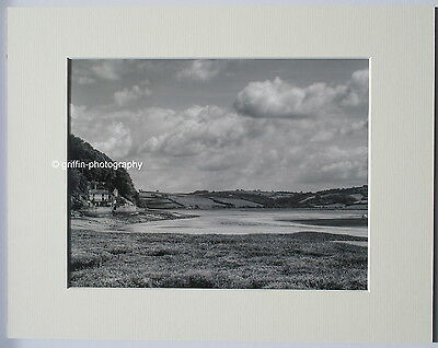 """Dylan Thomas """"The Boathouse"""" Signed Limited Edition Mounted Print 14""""x11"""" B+W"""