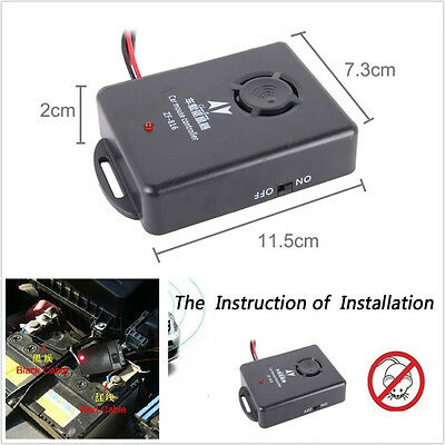 DC12V Car Off-Road Engine Compartment Ultrasonic Control Mouse Pest Repeller Kit