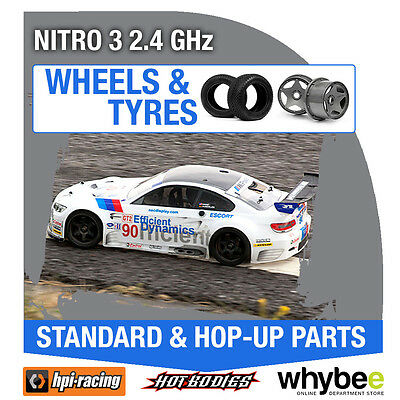 HPI NITRO 3 2.4 GHz [Wheels & Tyres] Genuine HPi 1/10 R/C Scale!