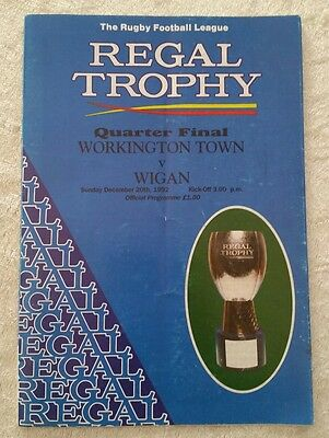 20/12/1992 Workington Town v Wigan [Regal Trophy] Rugby League Programme