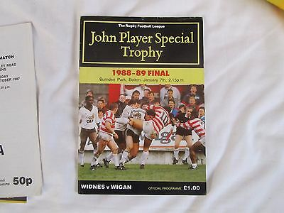 1988 - 9  Widnes v Wigan John Player Special Final