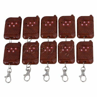 10x4 Channel Wireless Remote Control RF Receiver 433Mhz Red Peach Wood