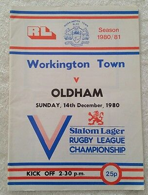 14/12/1980 Rugby League Programme: Workington Town v Oldham