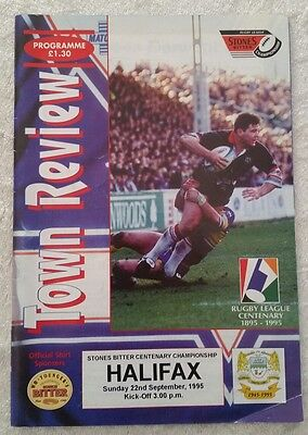 22/09/1995 Rugby League Programme: Workington Town v Halifax