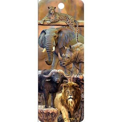 3D Bookmark - BIG FIVE