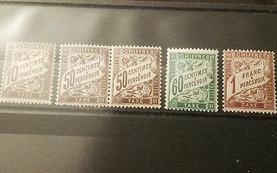 Timbres Taxe Type Duval Neuf 1893
