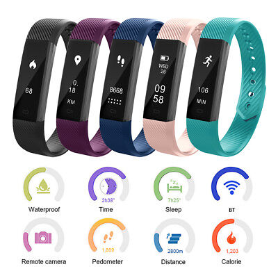 OLED Bluetooth Smart Watch Santé Bracelet Sports Fitness Activité Sleep Traqueur