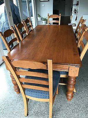 Farmhouse style 8 seater table and chairs