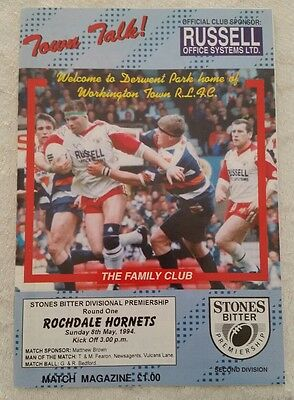 27/02/1994 Rugby League Programme Workington Town v Rochdale Hornets