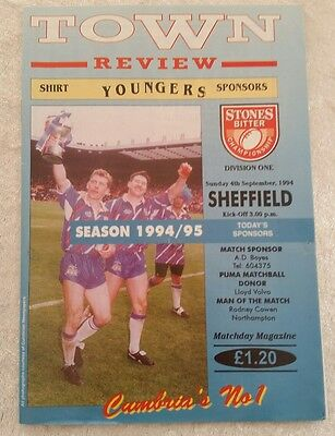 Workington town v Sheffield Sunday 4th September 1994 Rugby League Programme