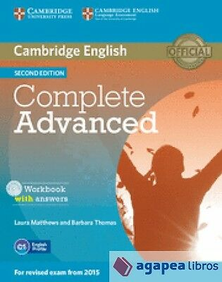 Complete Advanced : workbook with answers with audio. NUEVO. ENVÍO URGENTE