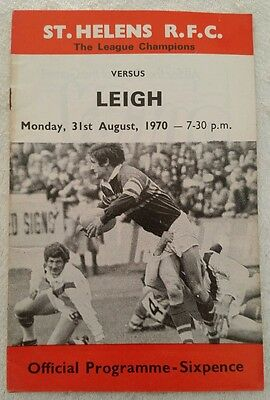 St HELENS v LEIGH 31st AUGUST 1970 RUGBY LEAGUE PROGRAMME
