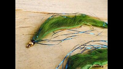 3 Blue Flash Damsel Olive  snake Size 8 Trout Fly Flies Lure Fishing DEADLY FLY